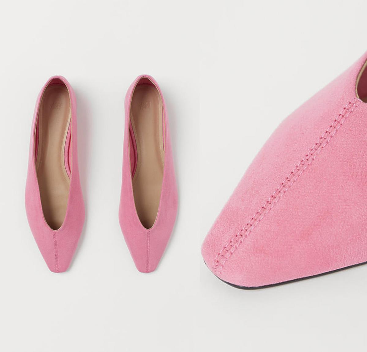 H&M, różowe balerinki, 99 zł