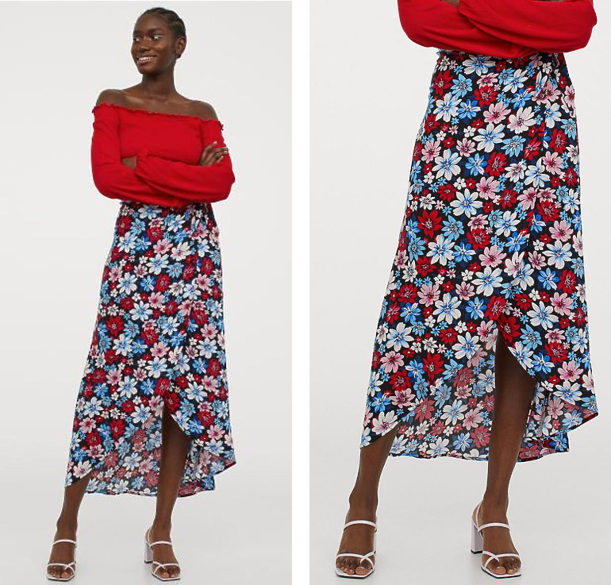 H&M wypuścił hit na wiosnę 20202! To najpiękniejsza kopertowa spódnica za 59 złotych
