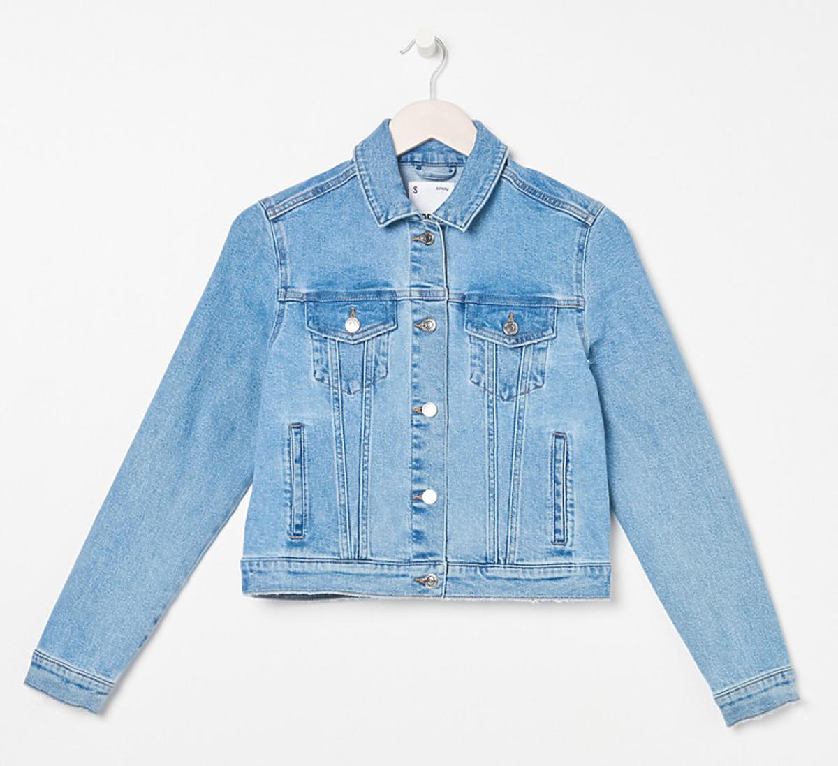 Jeansowa kurtka przejściowa na wiosnę, Sinsay, 69,99 zł