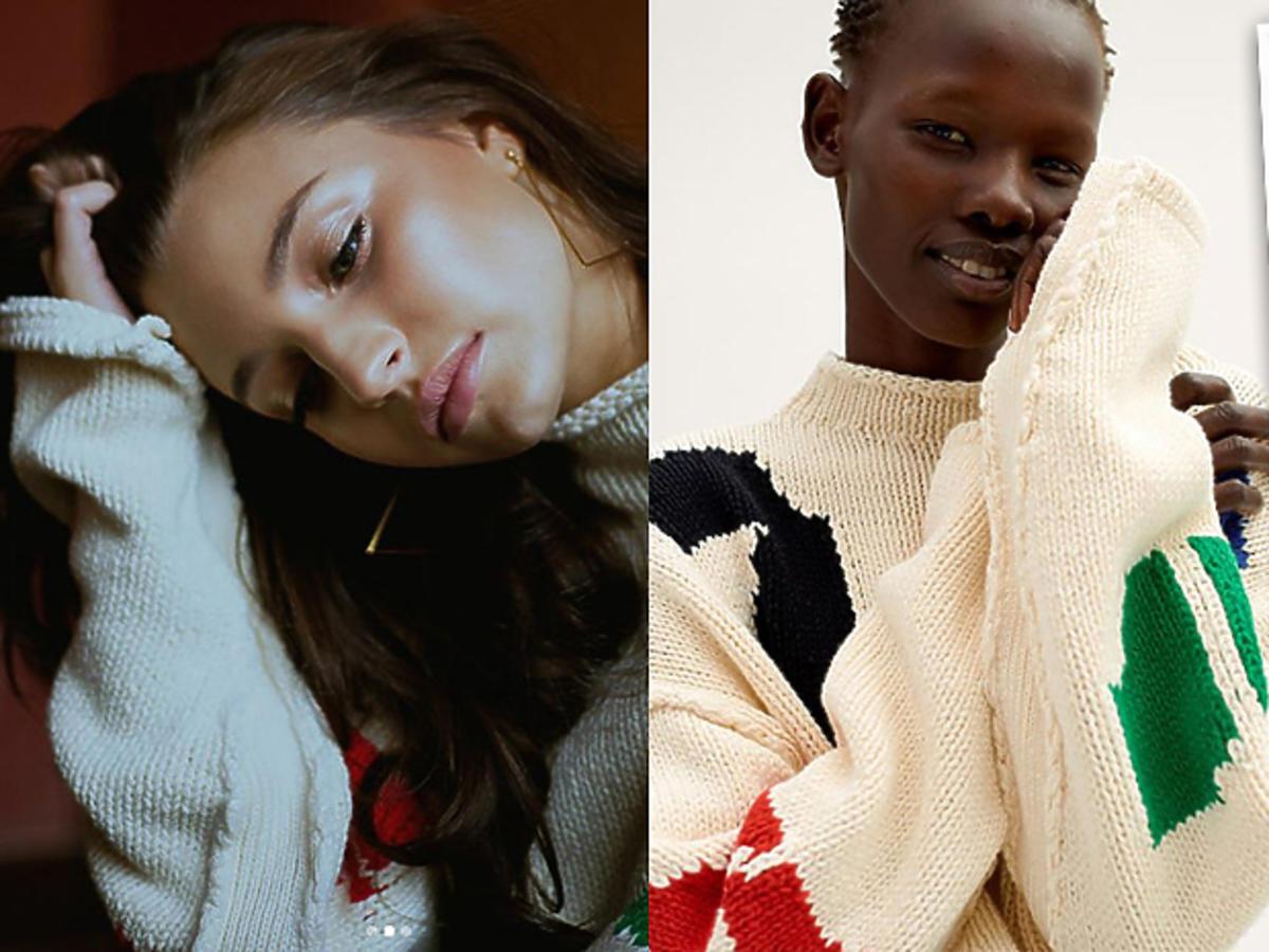 Julia Wieniawa w swetrze z H&M