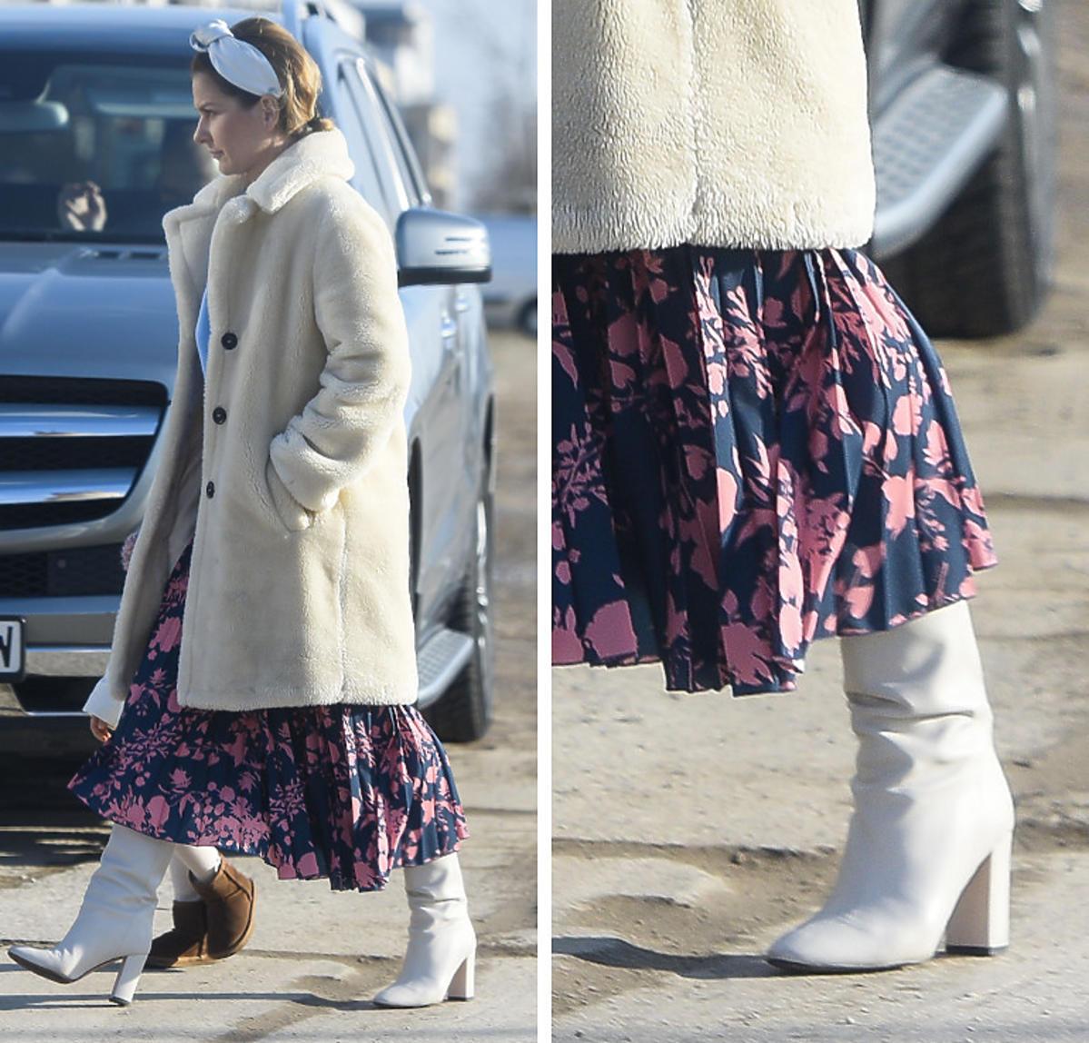 Kiedyś obciach, teraz hit! Paulina Sykut w kontrowersyjnych butach na spacerze z córeczką