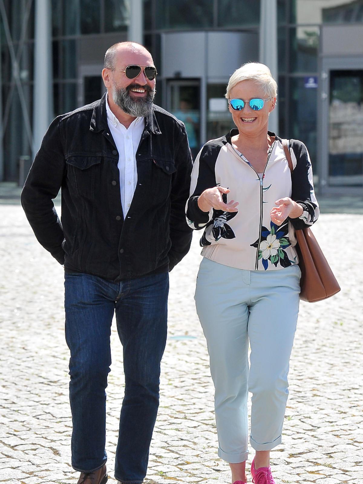 Kinga Preis z mężem