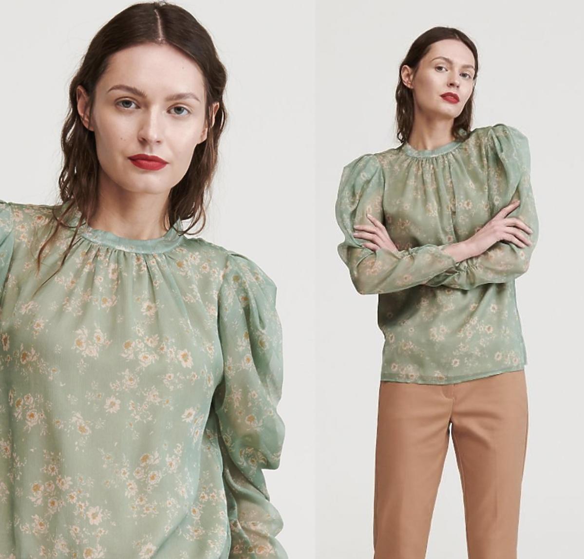 Kinga Rusin w wiosennych trendach 2020! Jej bluzkę z bufiastymi rękawami kupicie w Reserved