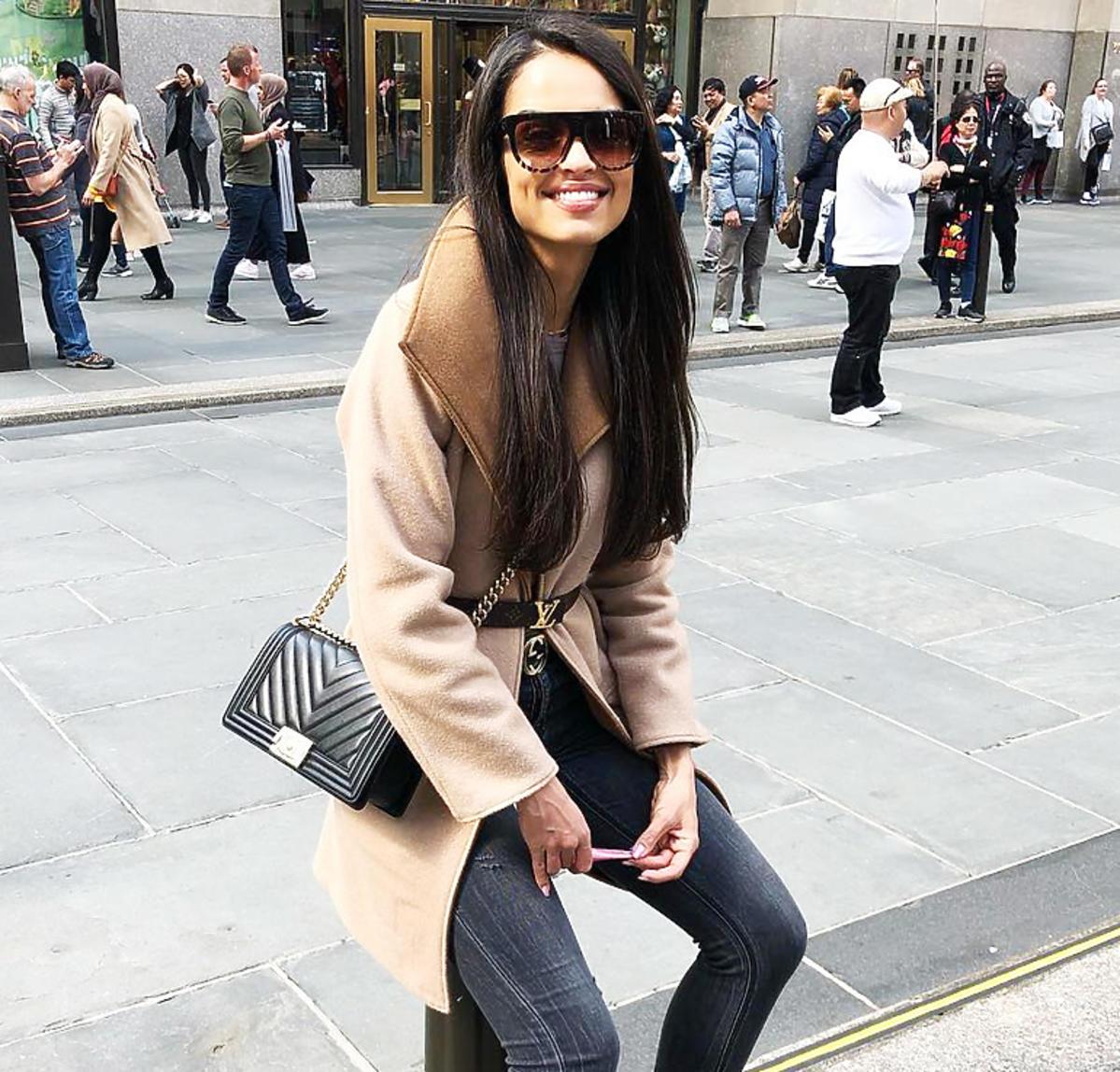 Klaudia El Dursi i botki Louis Vuitton