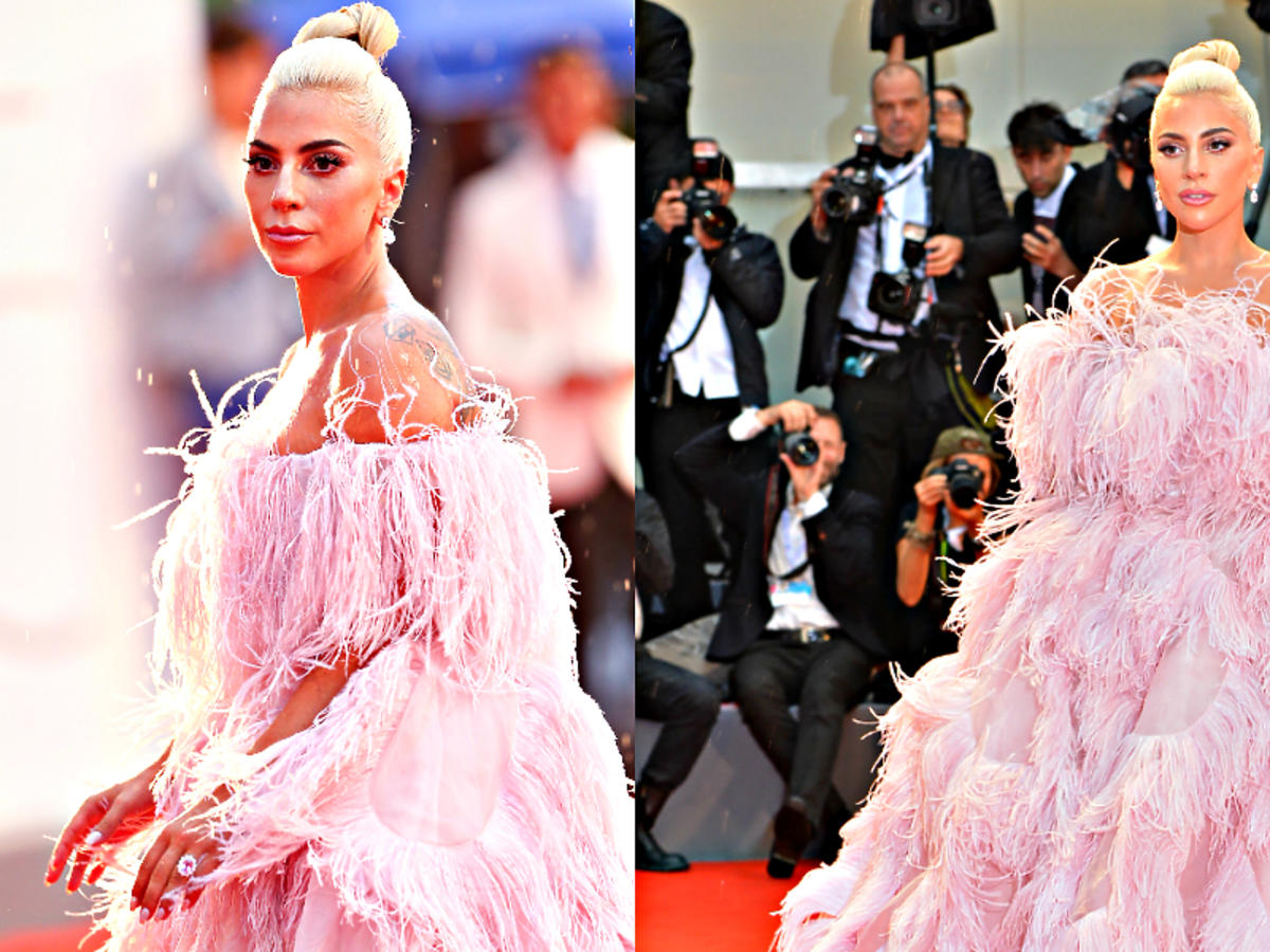 Lady Gaga w sukience od Valentino wyglądała jak milion dolarów