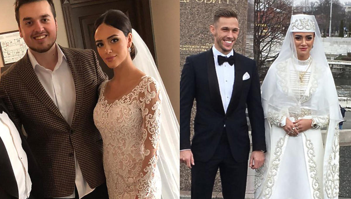 Maciej Rybus wziął ślub z tajemniczą Rosjanką! Na ślubie miała dwie suknie ślubne! Która piękniejsza? POJEDYNEK