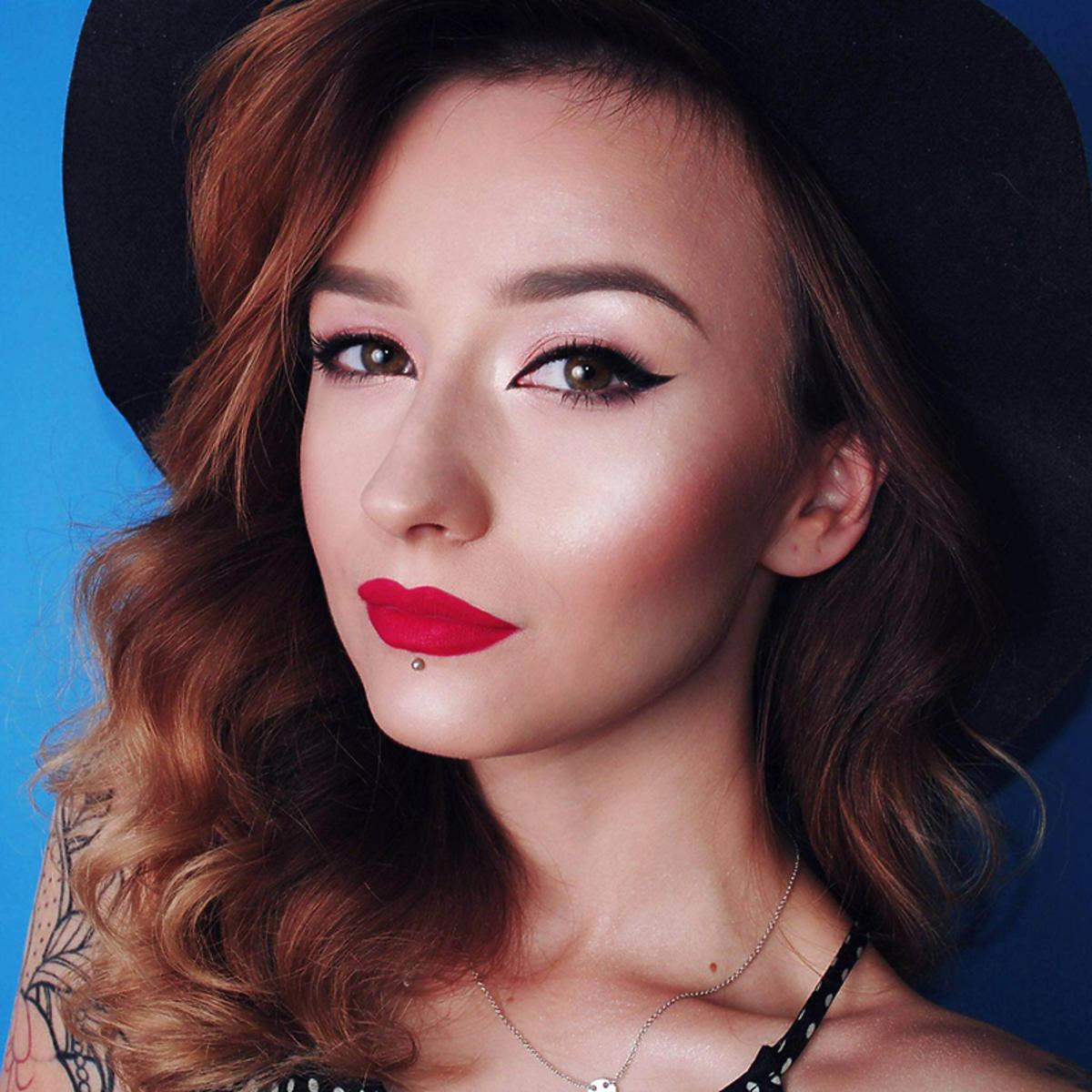 Kamila Patyna w pełnym makijażu