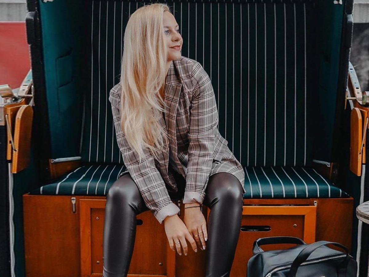 """Małgorzata Heretyk z """"19+"""" w spodniach z Sinsay"""