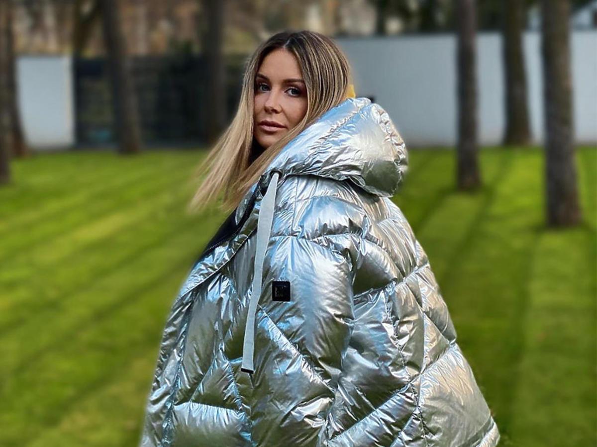 Małgorzata Rozenek-Majdanw srebrnej kurtce na zimę Tiffi