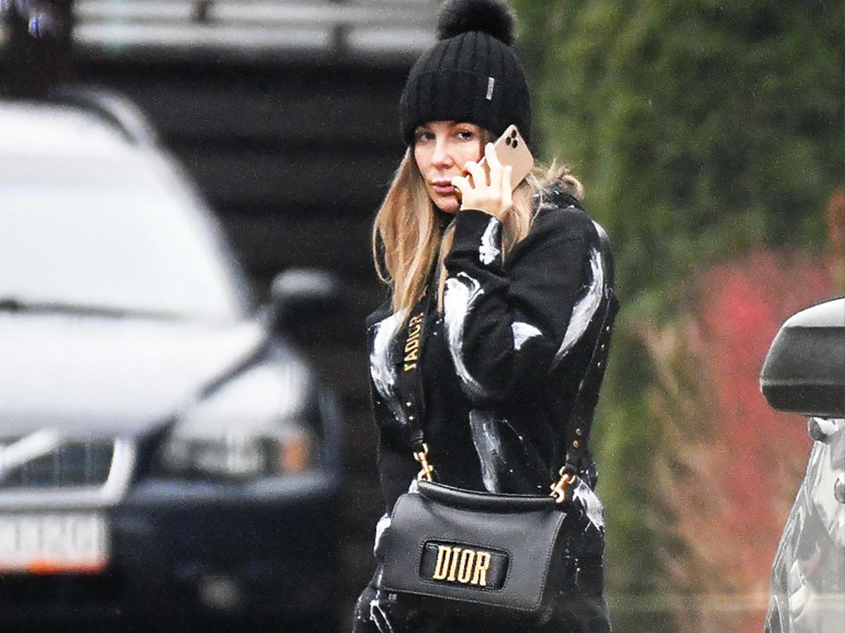 Małgorzata Rozenek w czerni z torebką Dior
