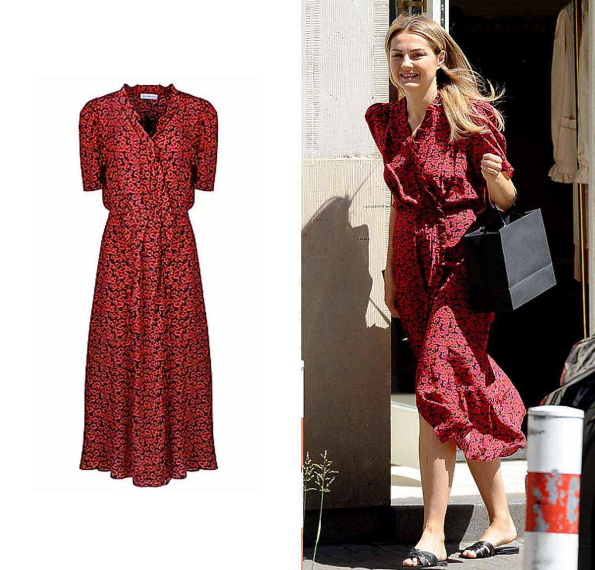 Małgorzata Socha w sukience czerwonej Affair