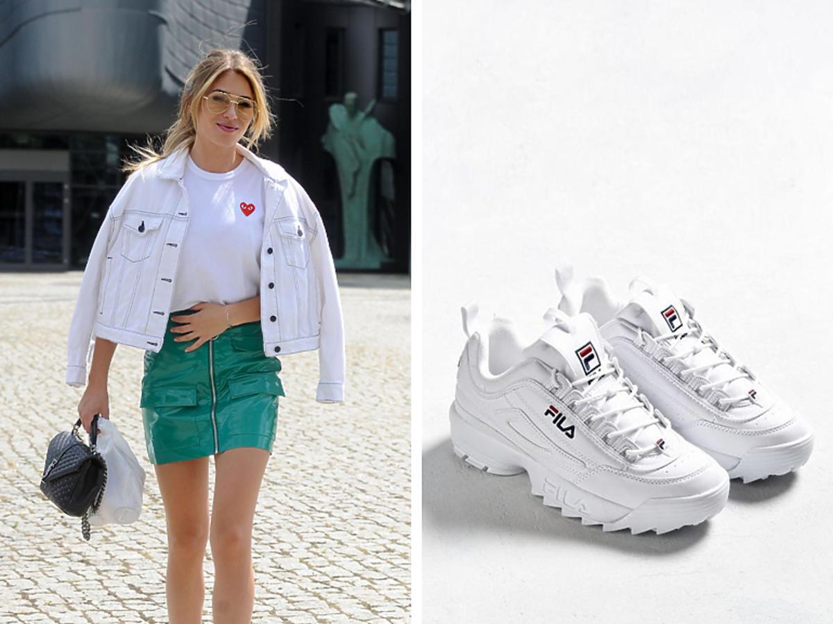Marcelina Zawadzka w sneakersach Fila
