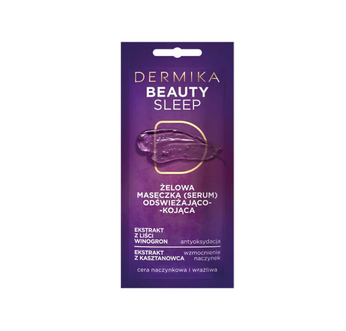 MASECZKI PIĘKNOŚCI Beauty Sleep – Żelowa Maseczka (serum) Odświeżająco-Kojąca