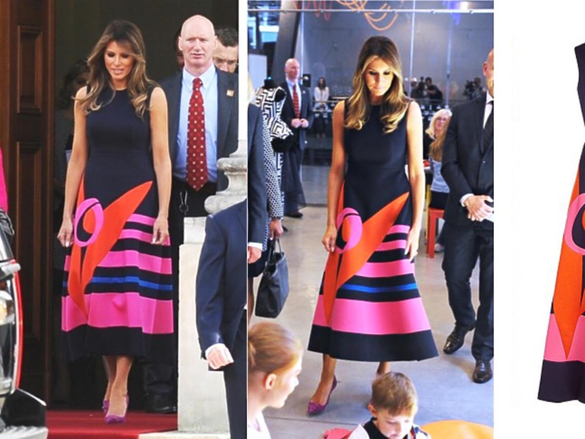 Melania Trump w sukni Delpozo pre-fall 17