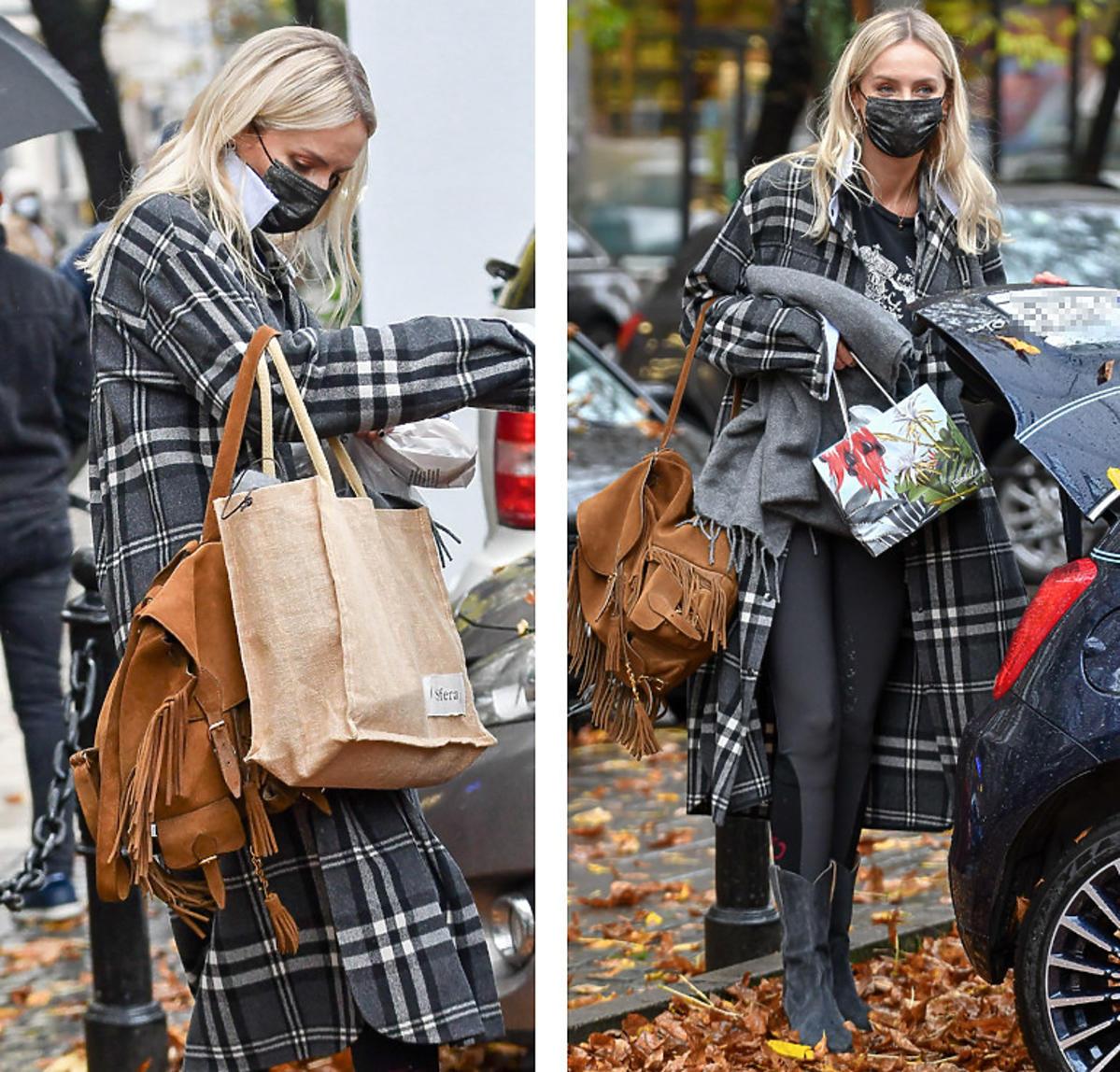 Moda jesień 2020. Agnieszka Woźniak-Starak na plecak Saint Laurent wydała 8 tysięcy złotych