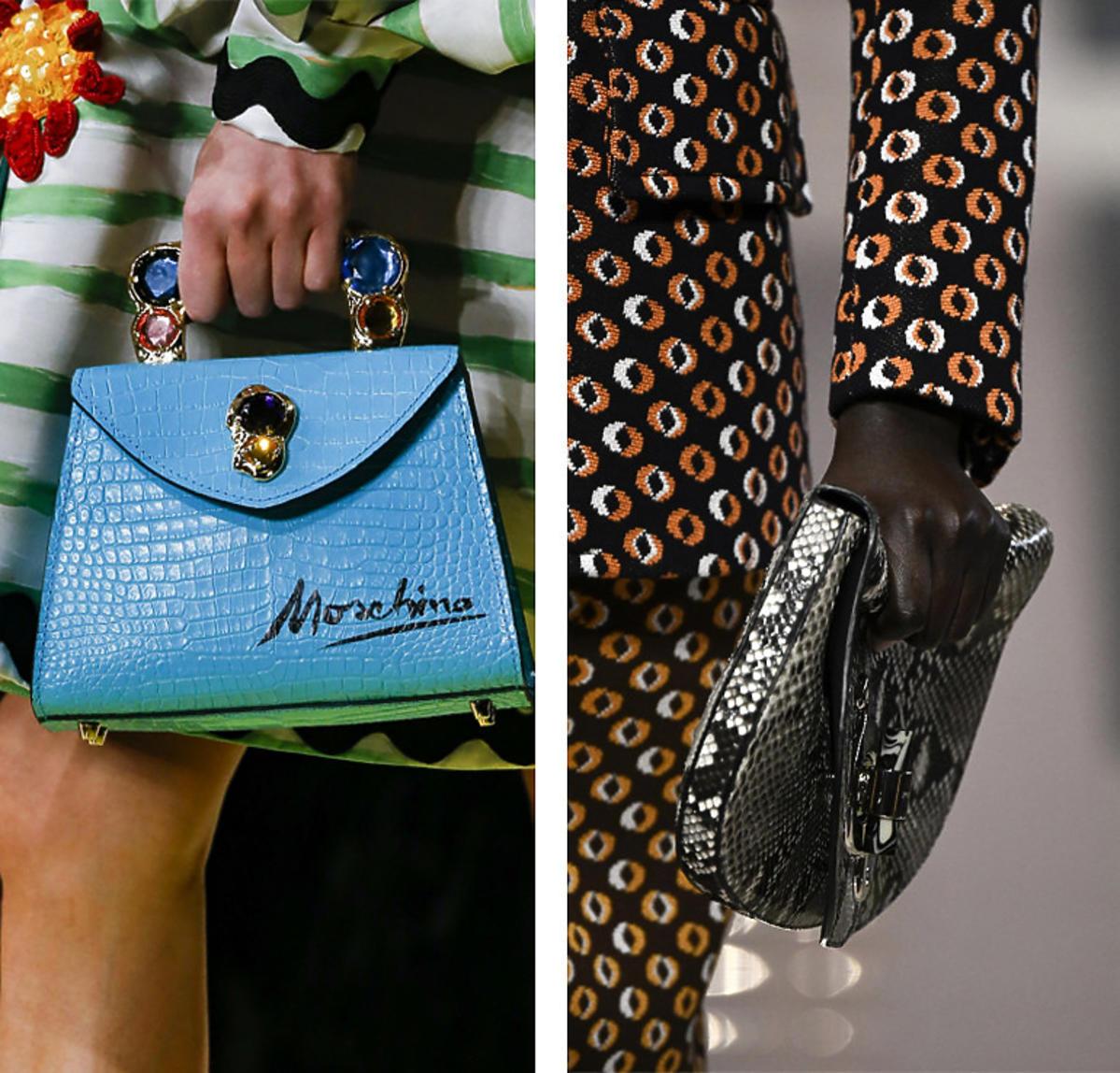 Moschino, Prada - torebki z pokazów wiosna/lato 2020