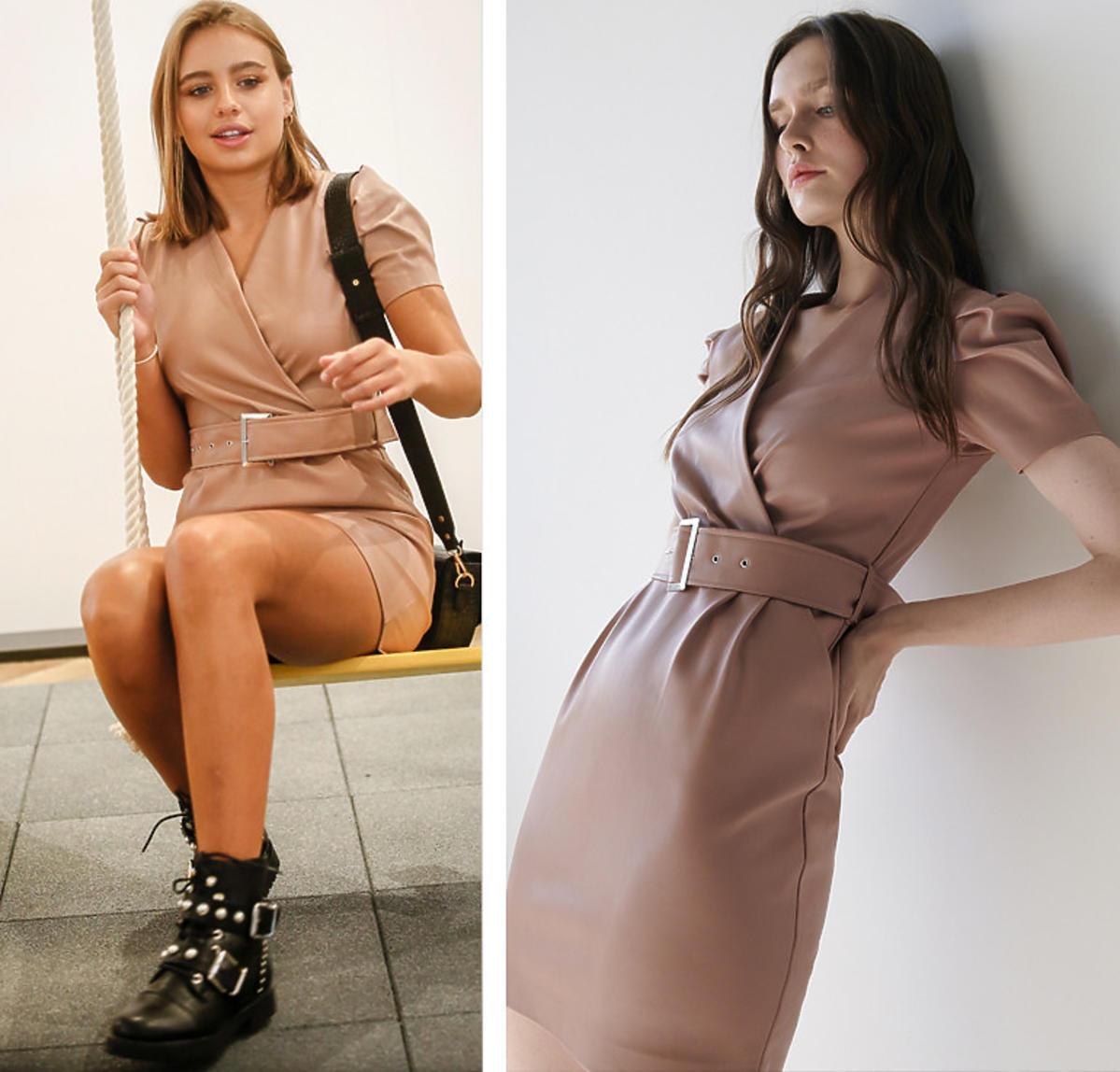 Oliwia Bieniuk w sukience z Sinsay za 70 złotych. To najmodniejszy model na jesień 2020