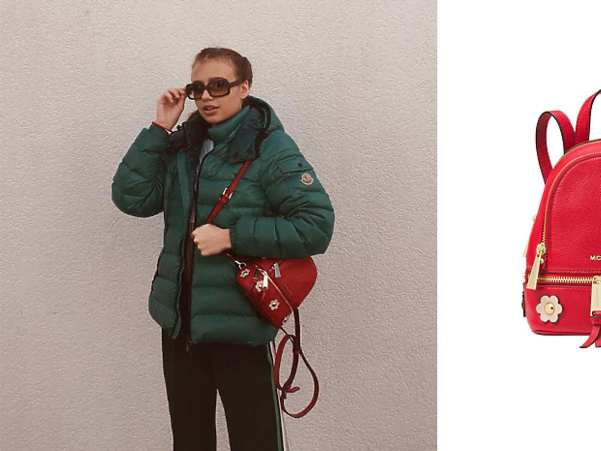 Oliwia Bieniuk z plecakiem Michael Kors