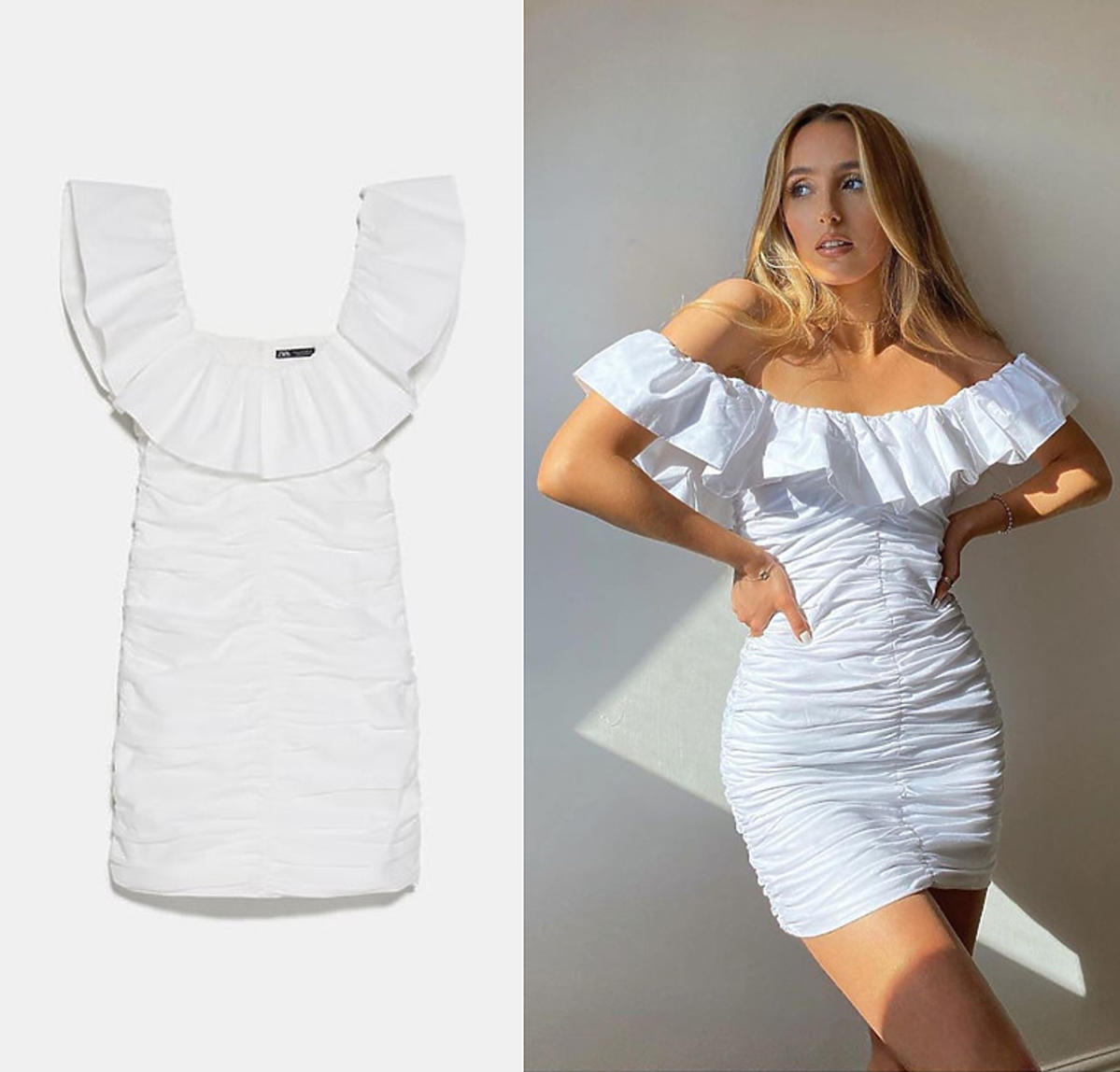 Oto największy sprzedażowy hit Zary. Biała sukienka hiszpanka podbiła Instgaram