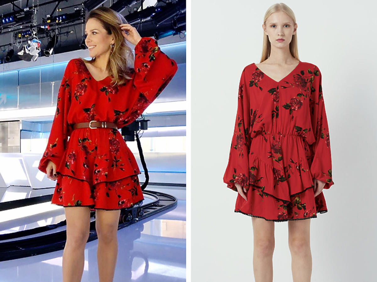 Paulina Sykut w czerwonej sukience Zaquad