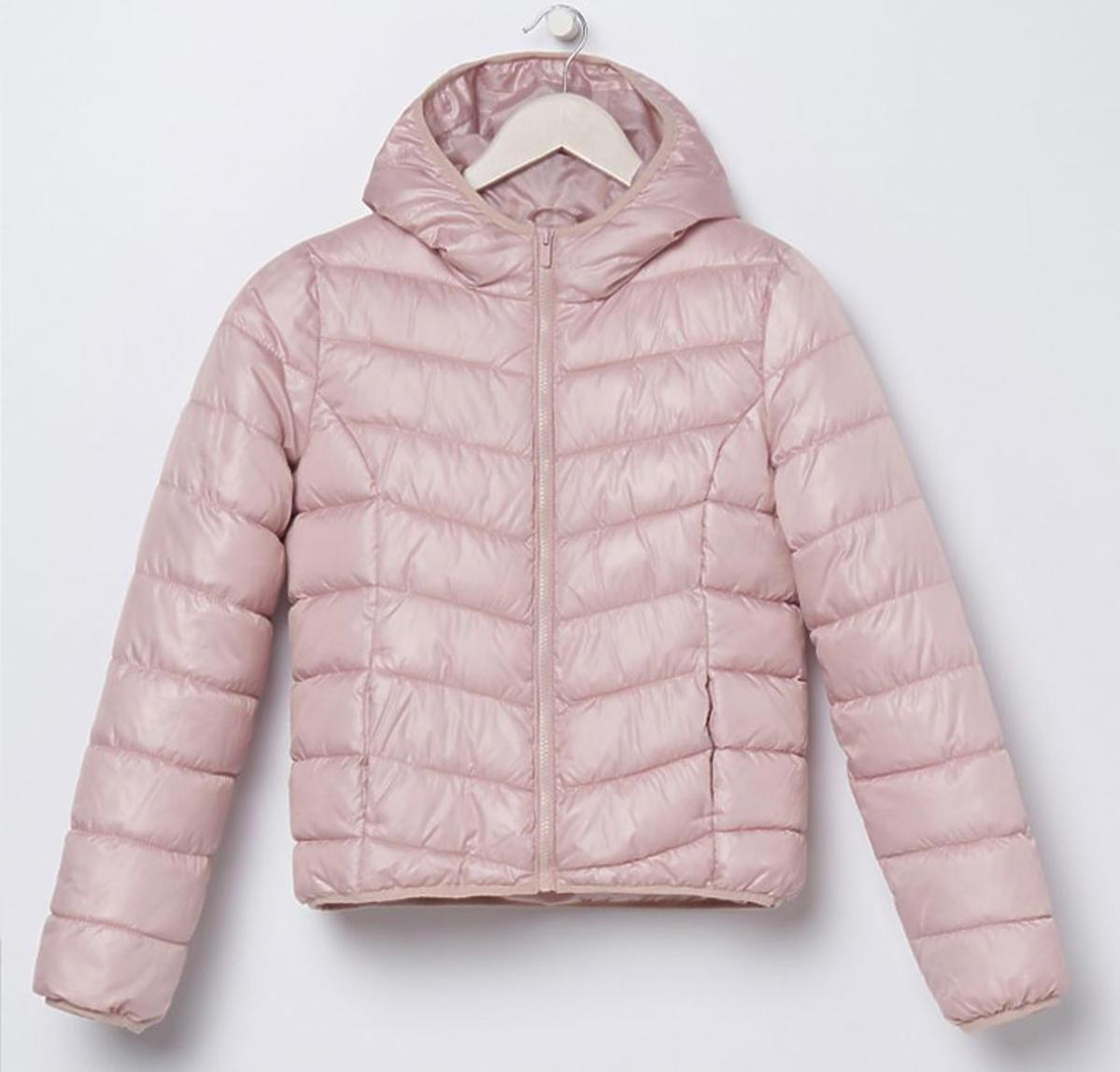 Pikowana różowa kurtka z kapturem, Sinsay, 59 zł