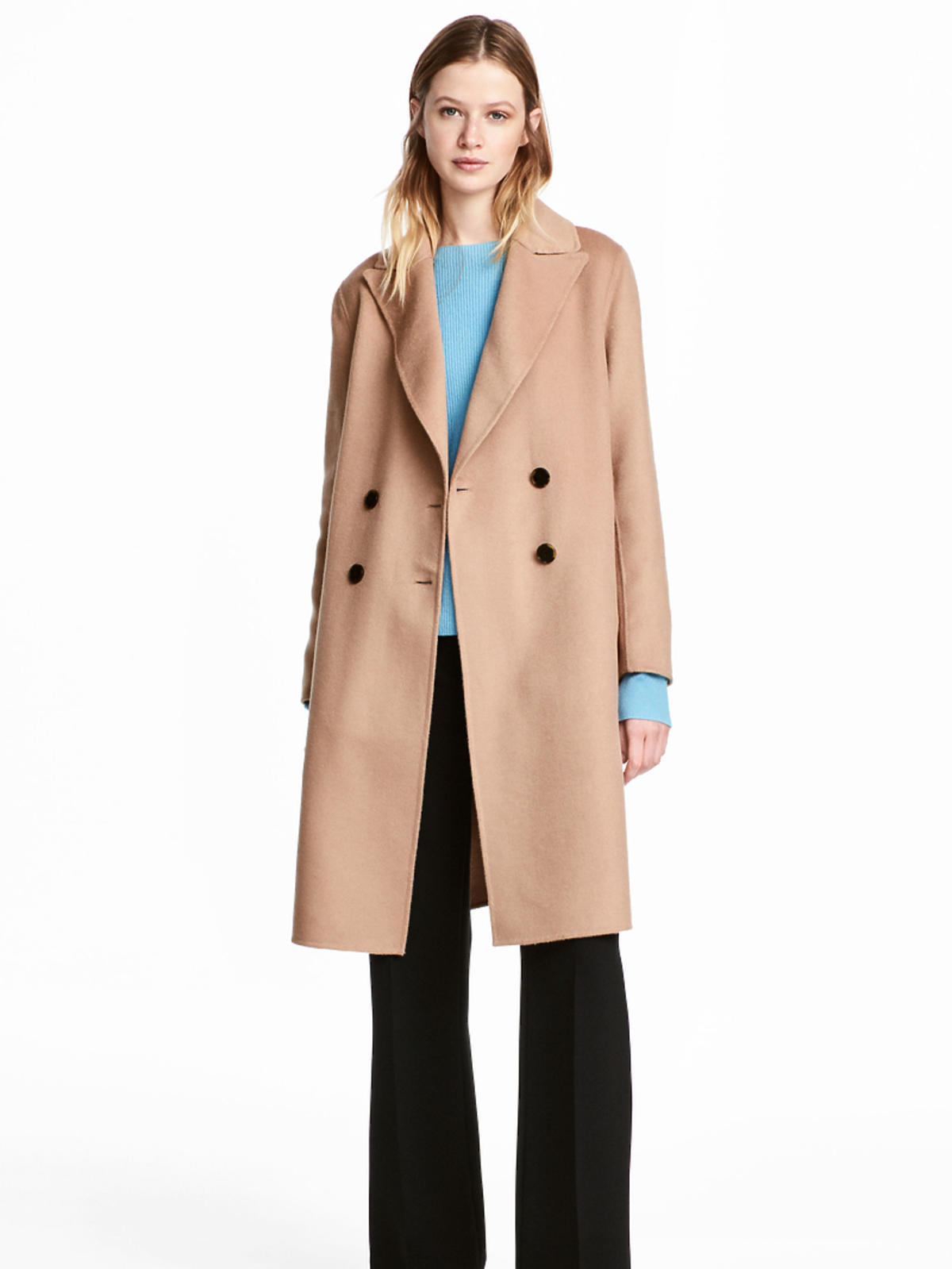 Płaszcz H&M z domieszką wełny, 599 zł