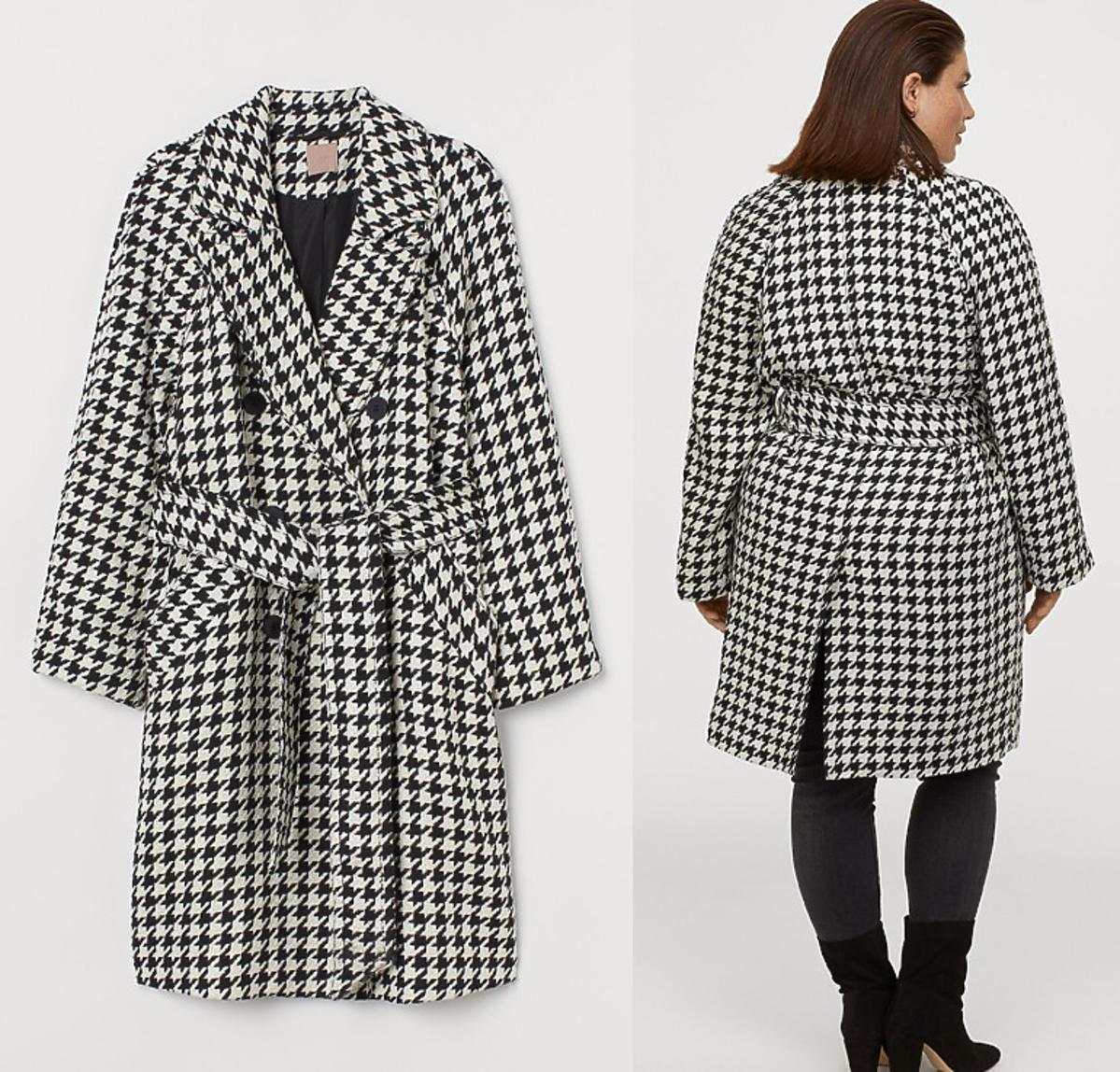 Płaszcz z H&M w pepitkę, 299 zł
