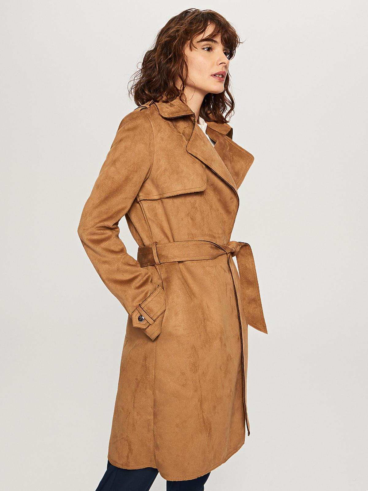Reserved, płaszcz z ekoskóry, 249,99 zł