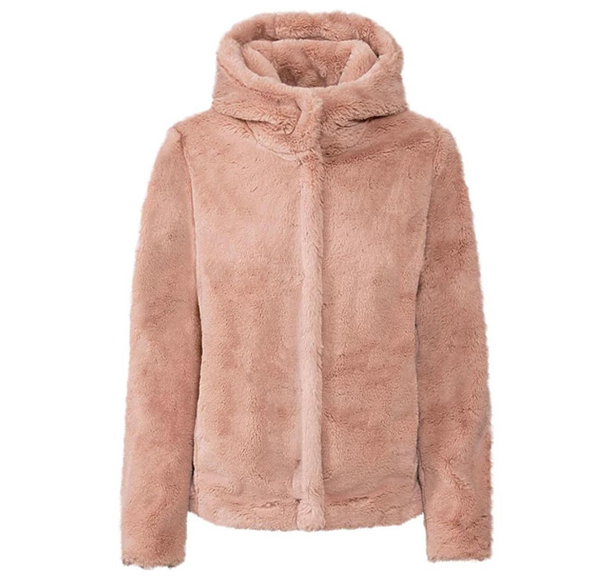 Różowa pluszowa kurtka damska, Lidl, 89,90 zł