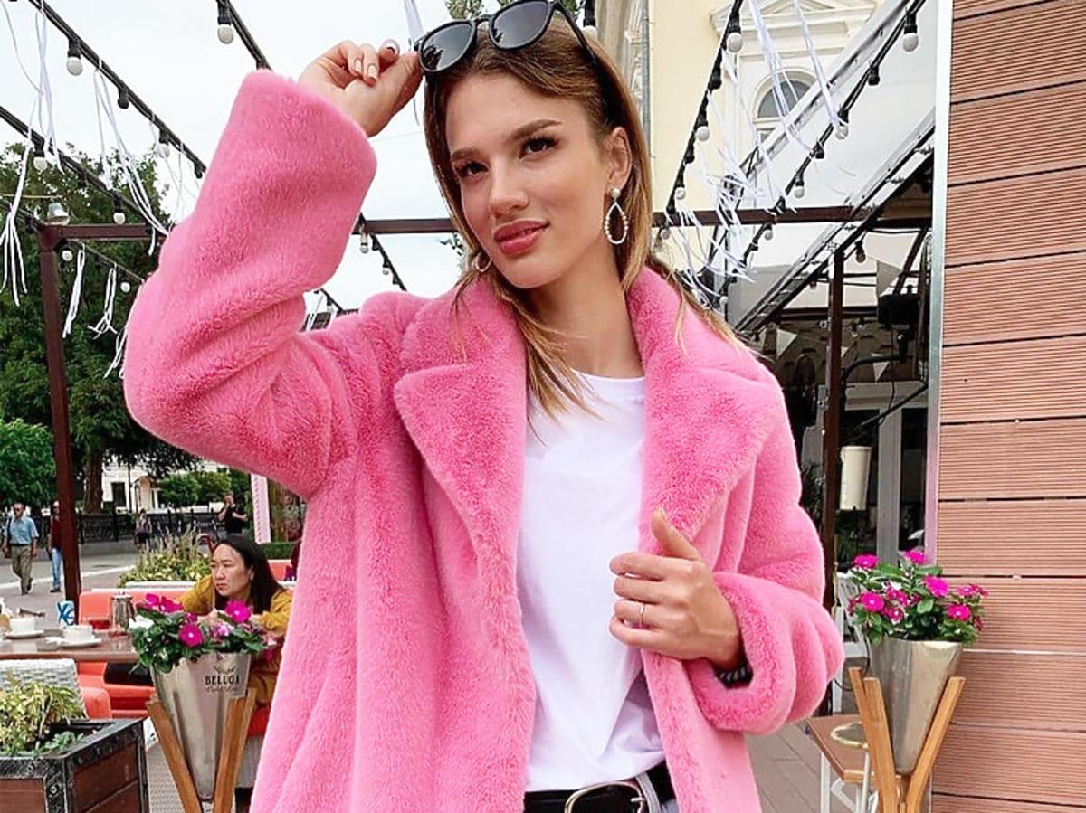 Różowe futerko z Reserved