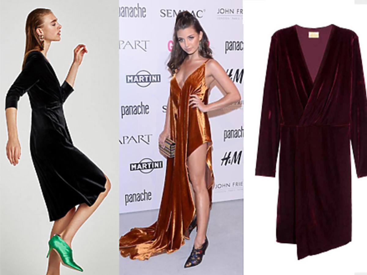 Shopping na welurowe sukienki trendy jesień/zima 2017/2018
