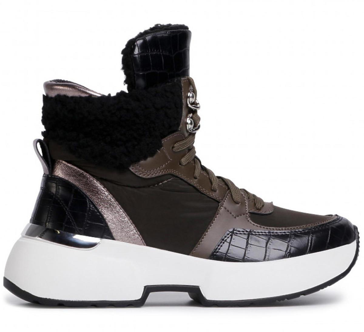 Sportowe sneakersy-botki Jenny Fairy na białej podeszwie