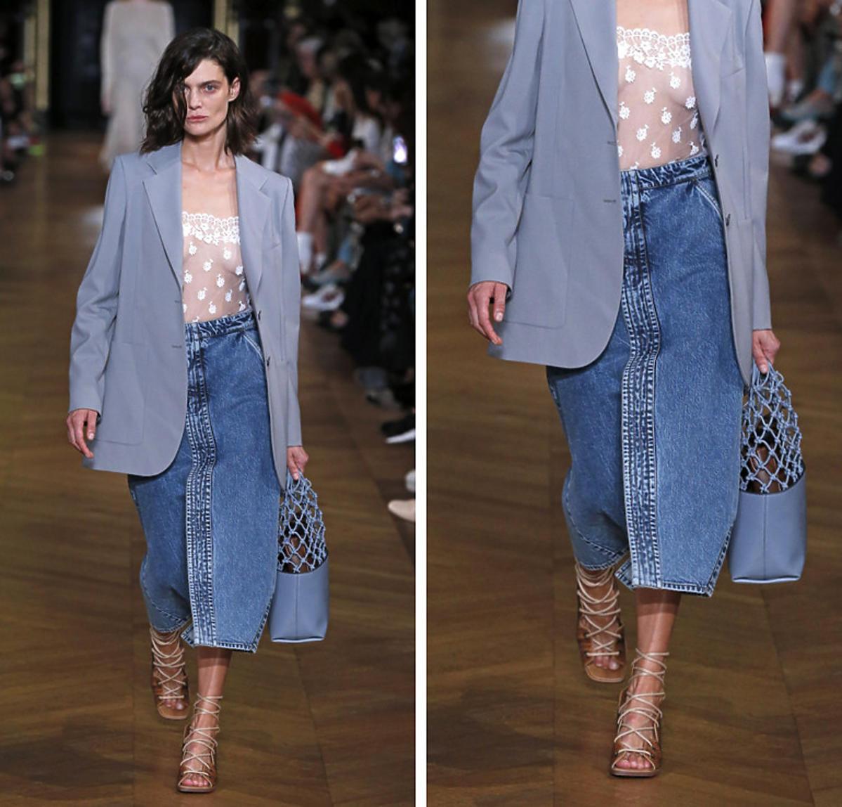 Stella McCartney lansuje trend na wiosnę: jeansowa spódnica midi