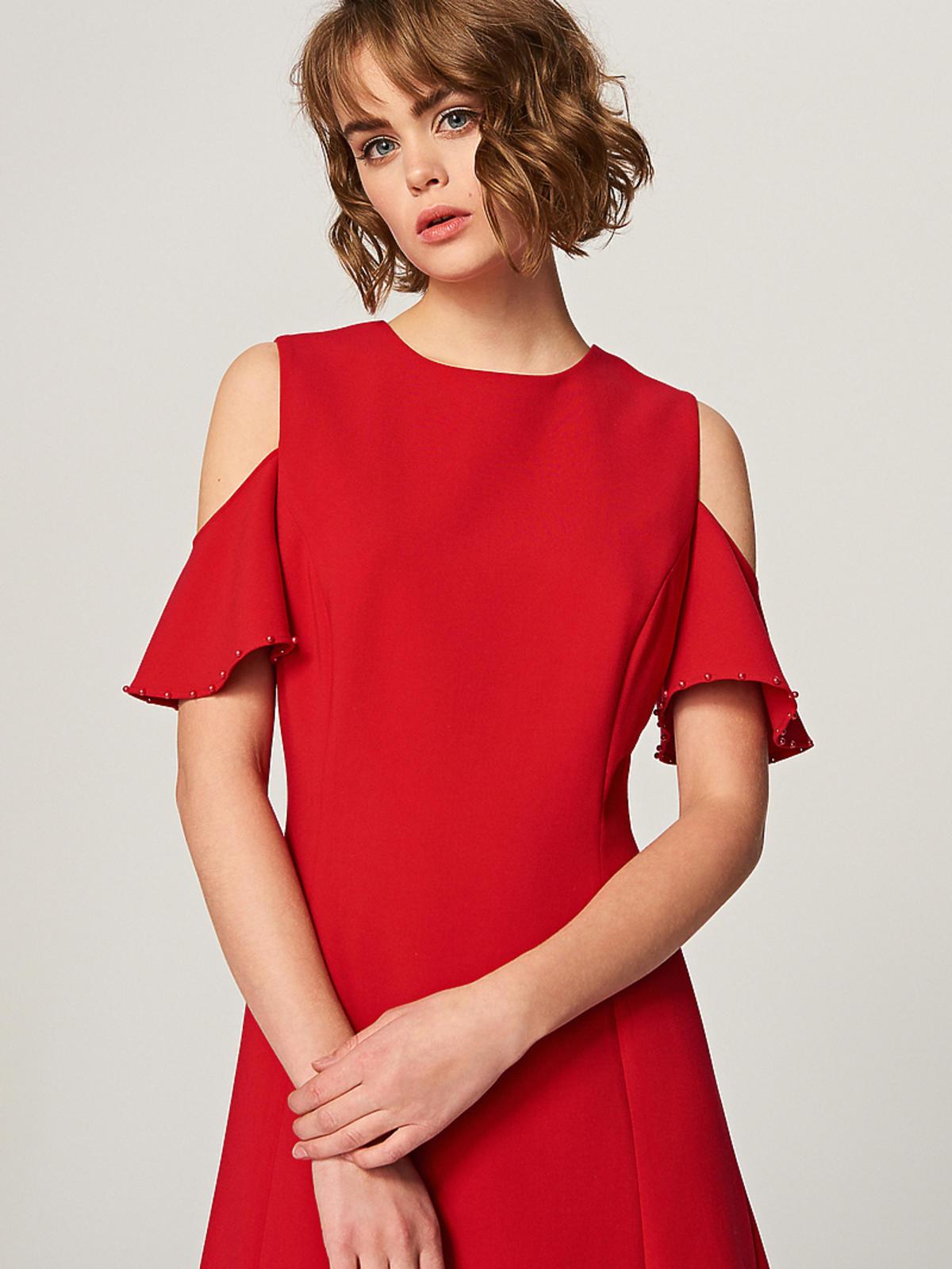 Sukienka czerwona Reserved, 59,99 zł