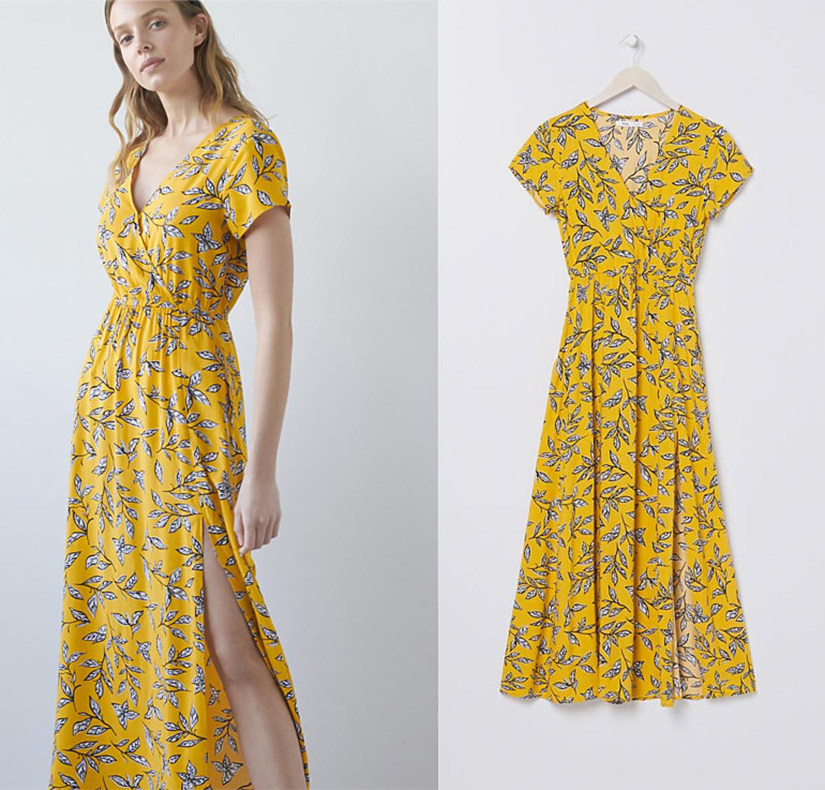 Sukienka maxi z kopertowym dekoltem, Sinsay, 59,99 zł