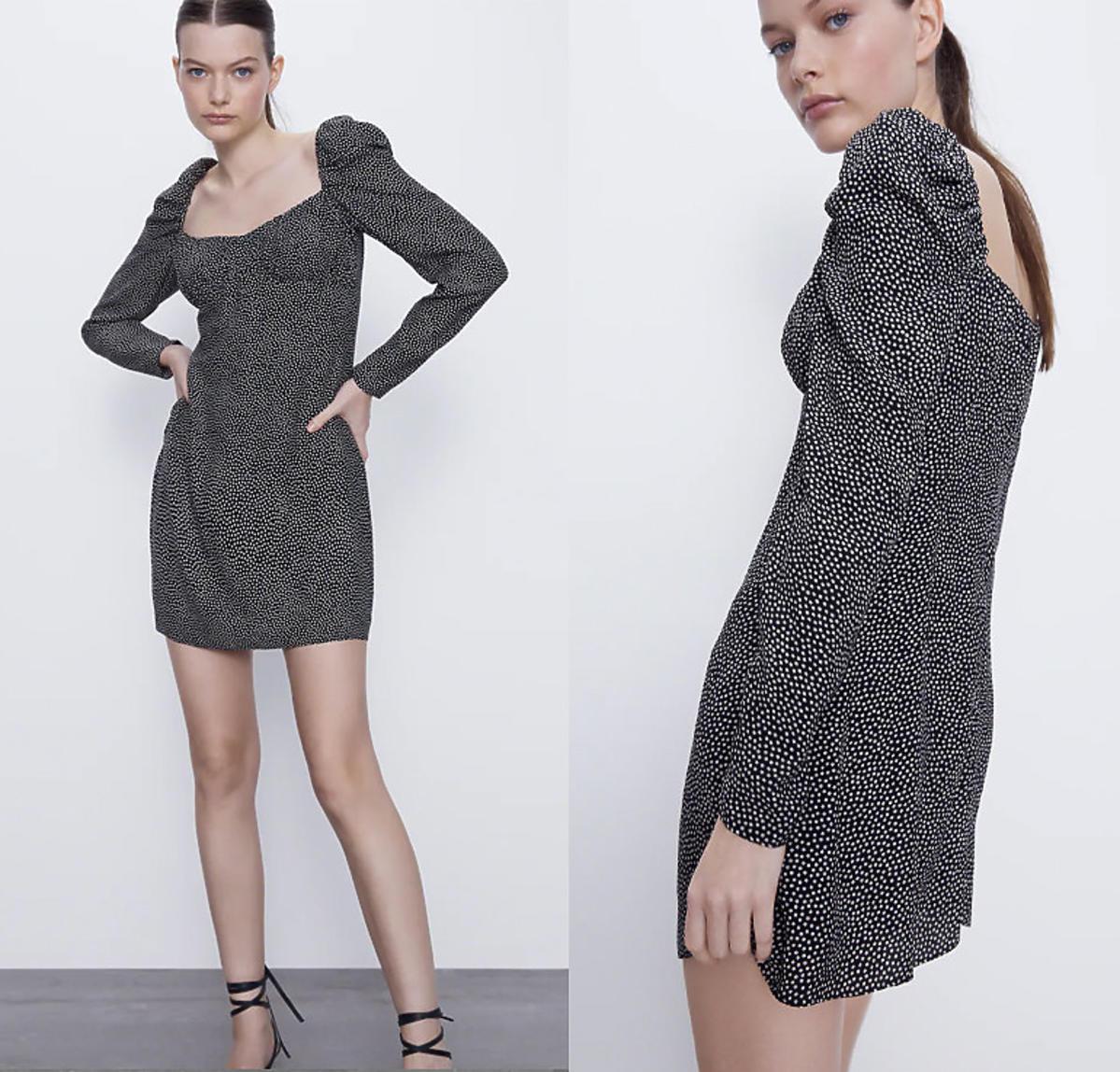 Sukienka w kropki, Zara, 49,90 zł