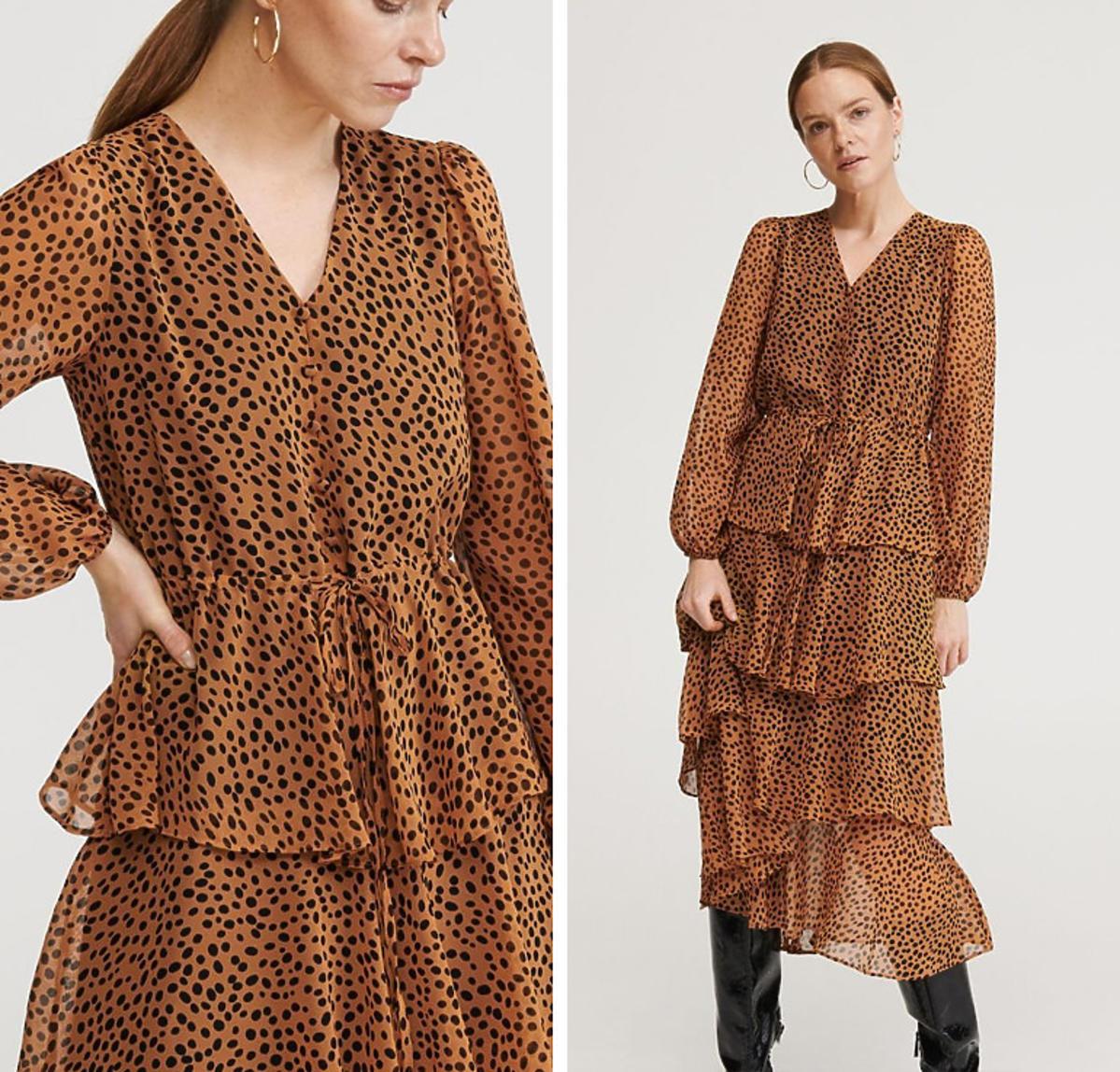 Sukienka w panterkę z Reserved
