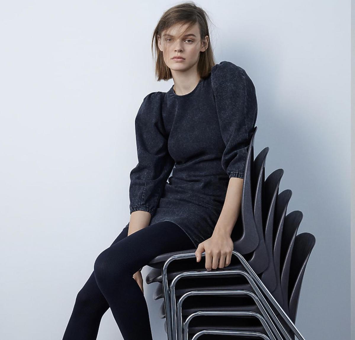 SUKIENKA ZW PREMIUM '80S ACID BLACK, Zara