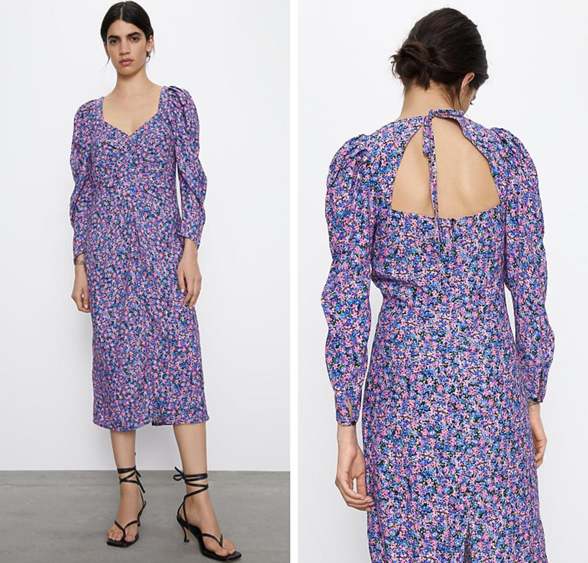 Ta sukienka z Zary z wyprzedaży jest hitem ze względu na dekolt na plecach. Efekt WOW!