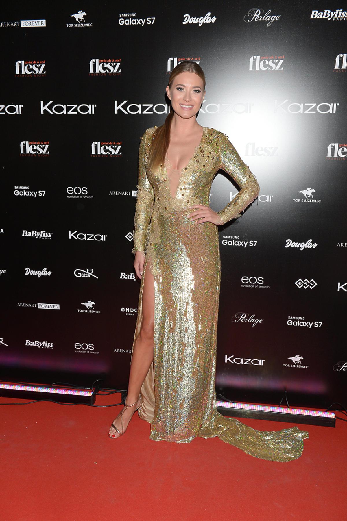 Marcelina Zawadzka  w sukni Paprocki&Brzozowski na Flesz Fashion Night