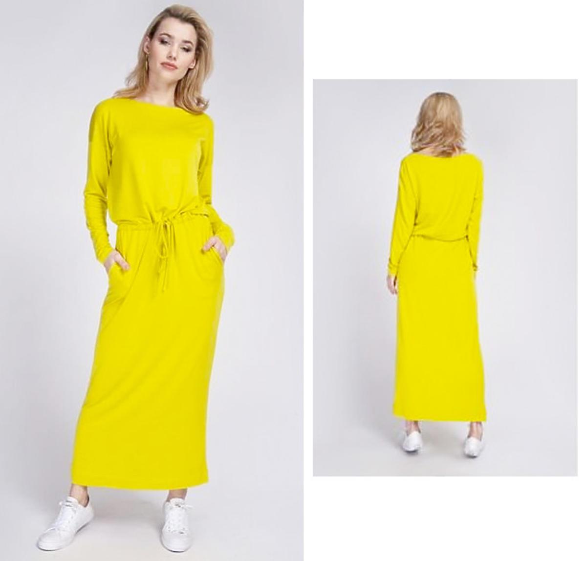 Trendy wiosna 2020. Anna z Rolnik szuka żony w modnej żółtej sukience maxi