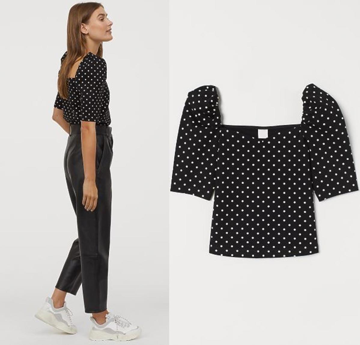 Trendy wiosna 2020. Bluzka z H&M w groszki za 39,90 zł