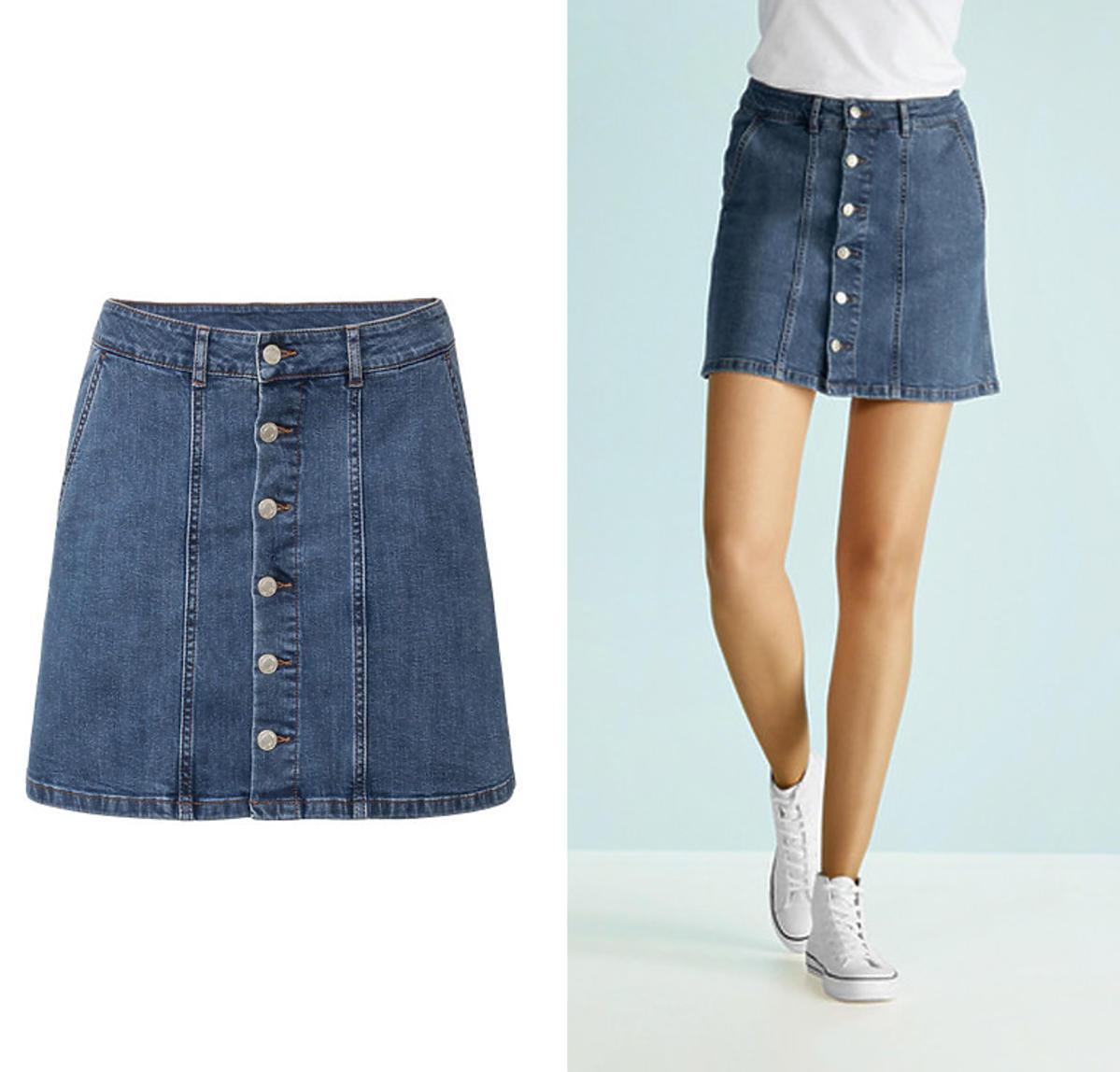 Trendy wiosna 2020. Ta jeansowa spódnica z Lidla to hit Instagrama