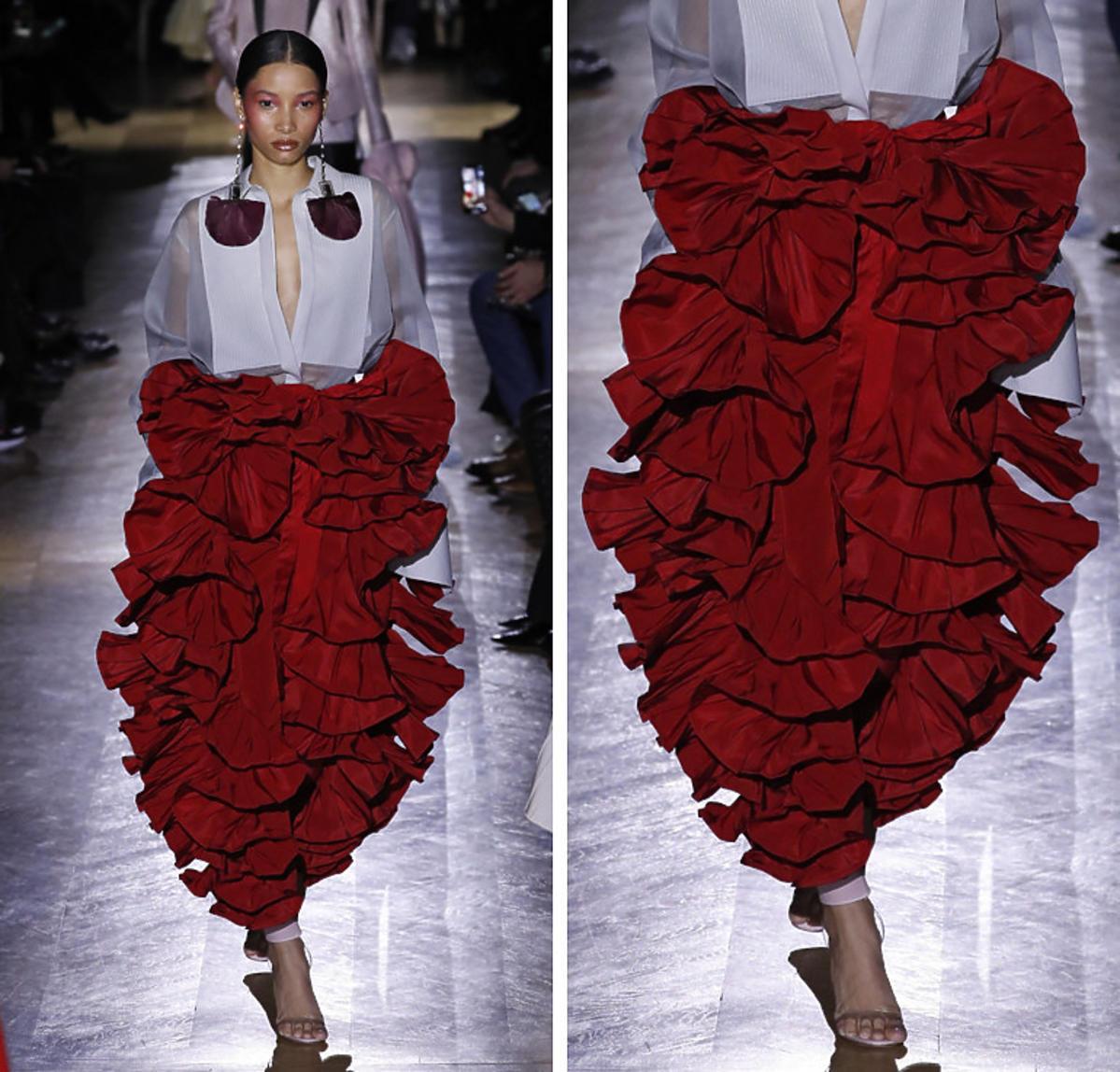 Valentino, falbany, wiosna 2020