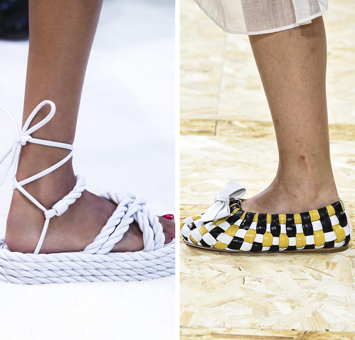 Valentino, Miu Miu, buty z plecionki