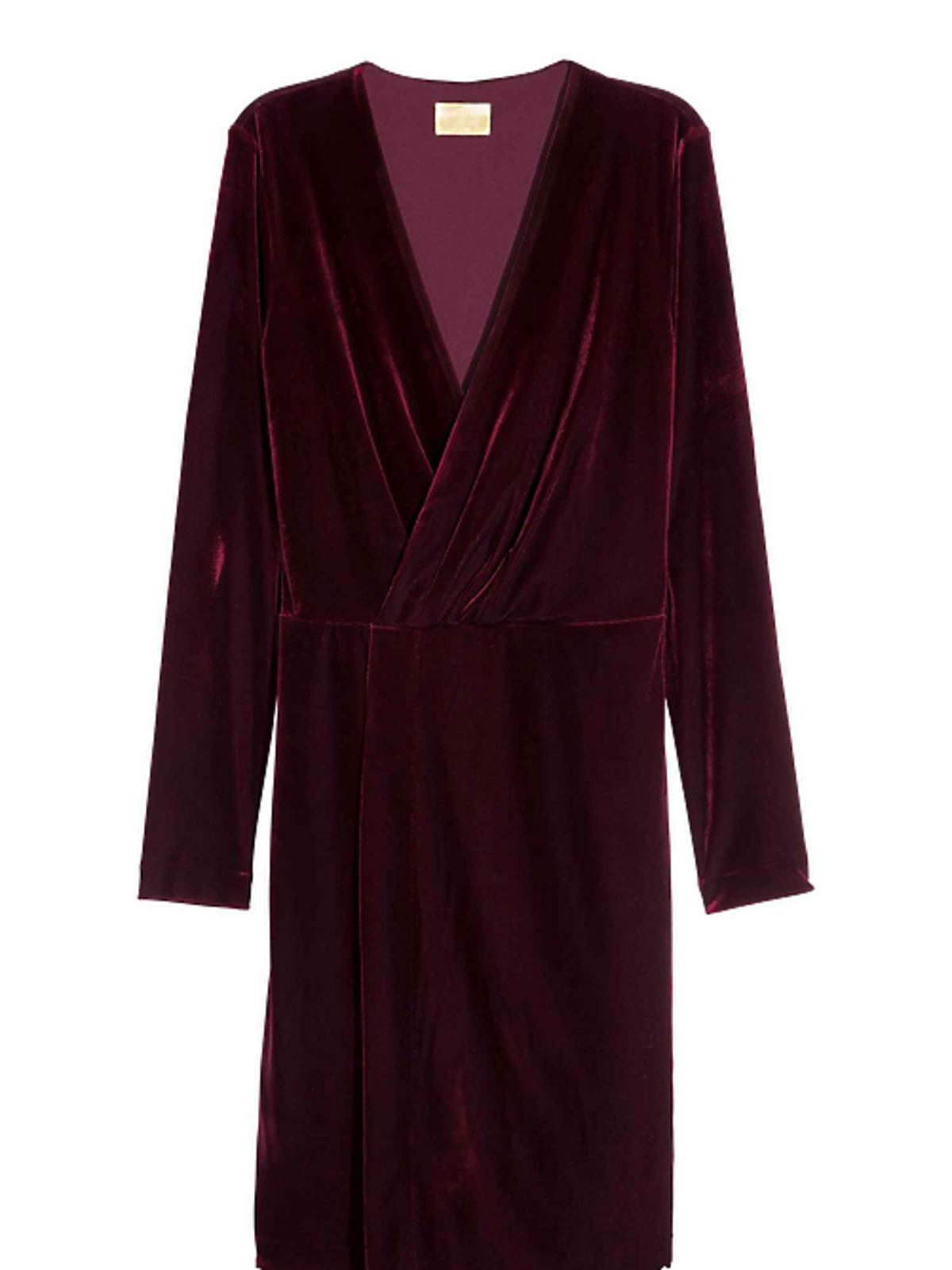 Welurowa sukienka, H&M, 149 złotych