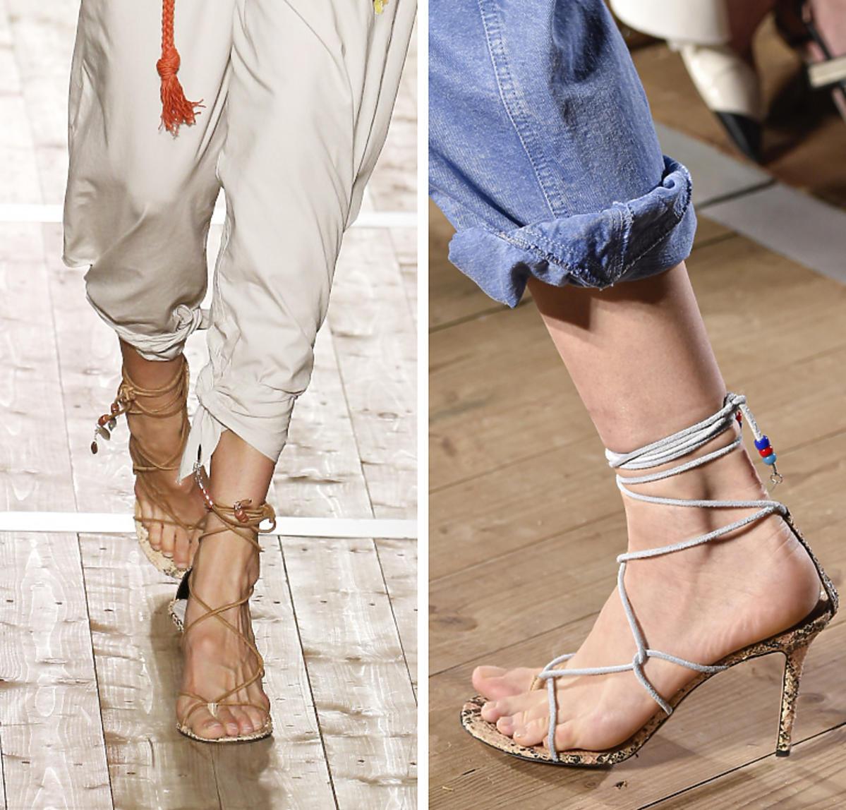 Wiązane sandałki na szpilce, Isabel Marant