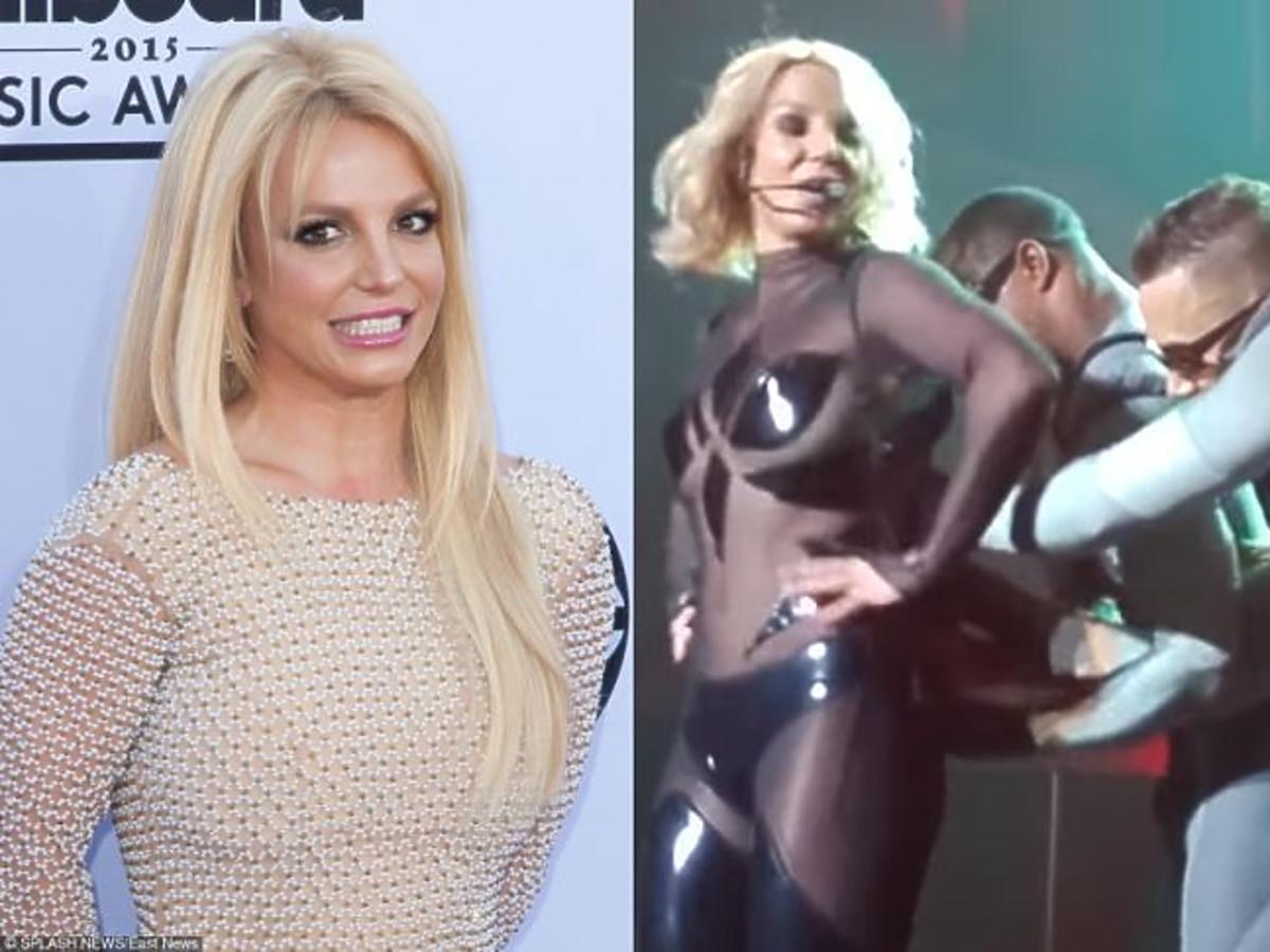 Britney Spears w złotej sukience, Britney Spears w czarnym kostiumie