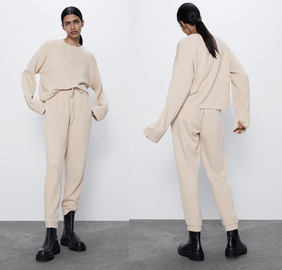 Zara, spodnie i bluza sportowa