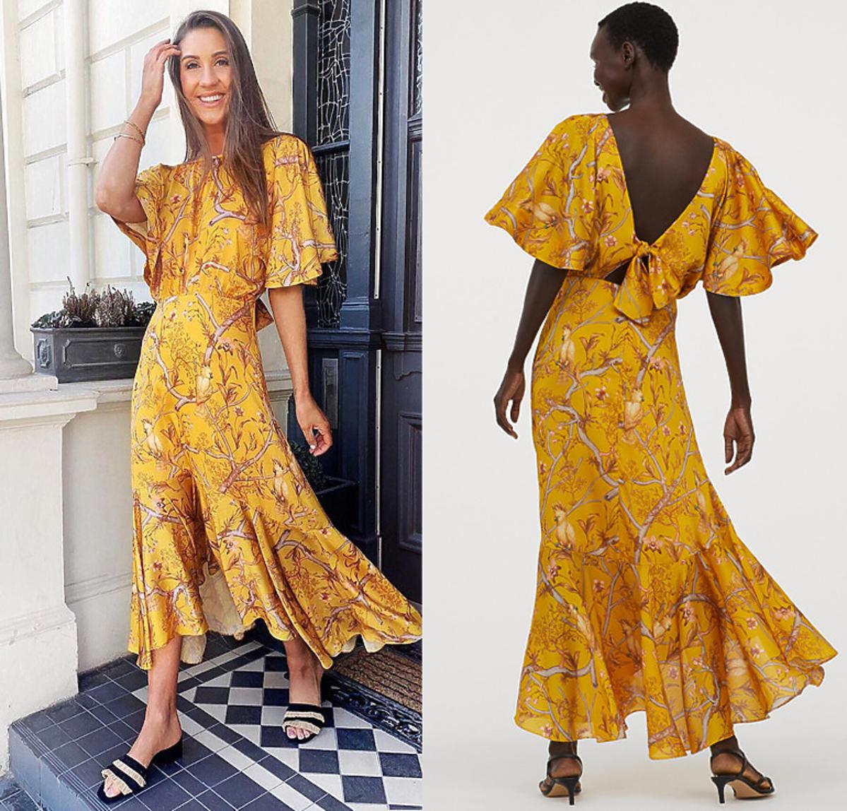 Żółta sukienka maxi z H&M za 199 zł jest hitem Instagrama